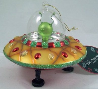 Unique Christmas Gift Idea Alien Flying Saucer Christmas Ornament