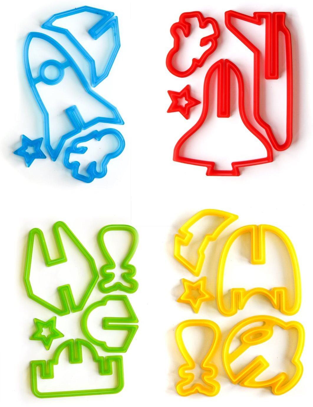 3d Space Ship Cutout Chirstmas Cookie Cutters