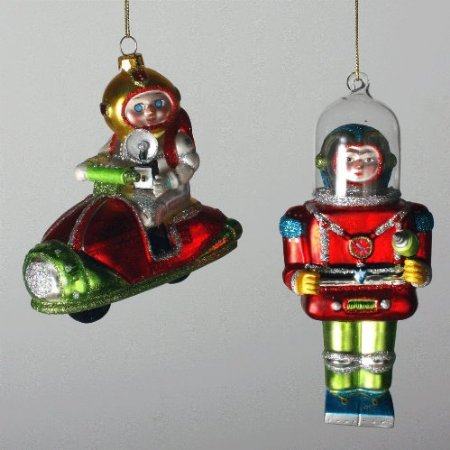 Outer Space Ornaments Space Man