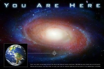 Ghostly You Are Here Poster Outer Space Store