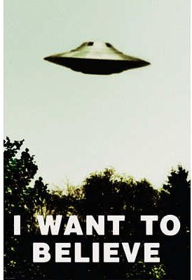 X-Files Poster I Want To Believe For Sale