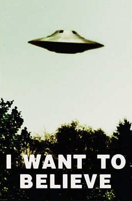 UFO Wisconsin Store X-Files Poster I Want To Believe